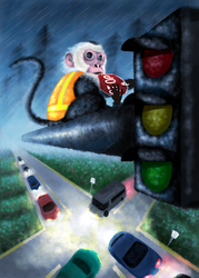 School Project- Monkey in Human Environment by Jazzy-Book