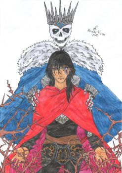 King of Thorns - Jorg and Dead King (Coloured) by Aucifer666