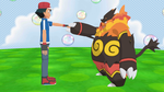 Ash and Emboar by FcoMk513
