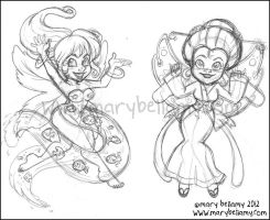 Fairy sketches by MaryBellamy