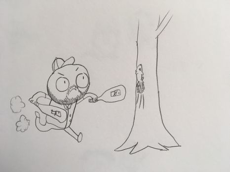 Mr. Thelen Bludgeons a Squirrel by Skunkywaffles
