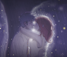 James + Lily: Hogwarts Rain by Avender