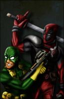 Deadpool and Bob by ZeroEnd
