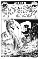 Adventure Comics 436 cover recreation by dalgoda7