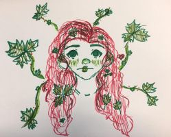 Inktober day 3- poison (ivy) by GinaTheTaco