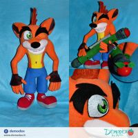 Crash Bandicoot by DemodexPlush