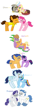 MLP Main 6 Ships by Snoopy7c7
