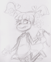 Fanart Feature - Angelica C Pickles SKETCH by ronaldhennessy