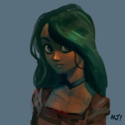 Green lady by njay