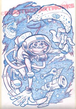 SPACEMONKEY pencils by pop-monkey