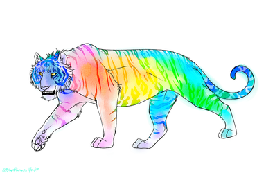 Watercolor tiger by 12Blueflames