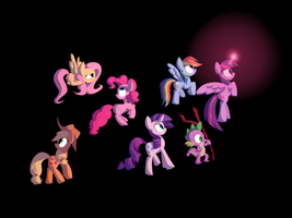 MLP Poster (Mane 6)/Final Product in Description by Animation100
