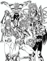 SAINT SEIYA Black and White by VAXION