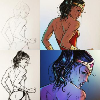 Wonder Woman process by D-Cranford