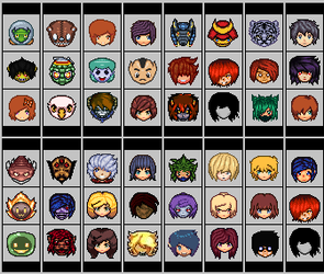 Custom set of RPG Pixel Art Heads by TheUnHolyDarkth