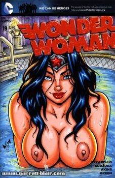 Wonder Woman topless sketch cover by gb2k