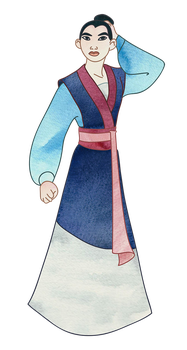 Mulan - The Soldier from the Mountains by Tabascofanatikerin