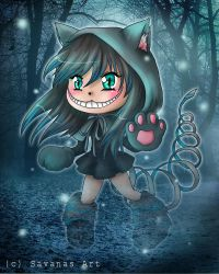 Cheshire Chibi by SavanasArt