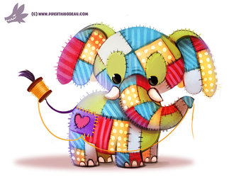 Daily Paint #1204. Patchy-derm by Cryptid-Creations