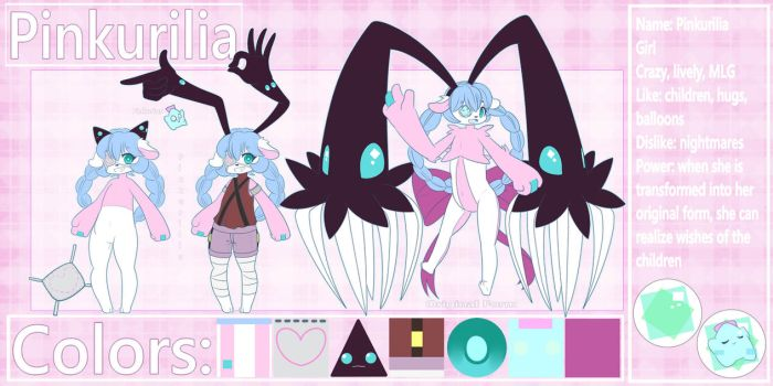 Oc Reference: Pinkurilia by TogeticIsa