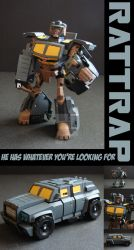 TFA Beast Wars Rattrap by Gizmo-Tracer