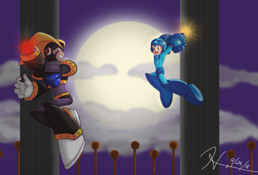 Showdown at the top of the castle by Sheshin
