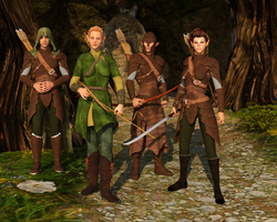 Elven Fighters by Dracis3D