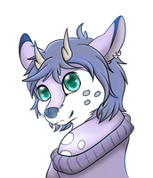 lil purple deer by holyhell111