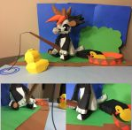 Bagbean DTA : Rubber duck Paper craft! by Plush-Lore