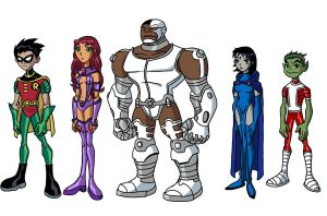 Teen Titans from Earth 5891 by Chillguydraws