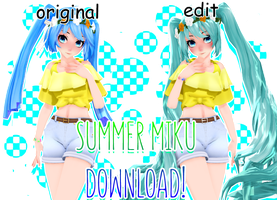 summer miku [+DL] by h4ise