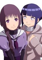 Hinata  and Sumire by Jericoe