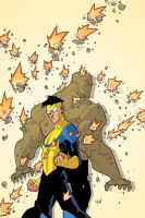 Invincible cover for issue 19 by RyanOttley