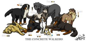 The Concrete Walkers by fazzle