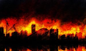 City on fire by interstellarian