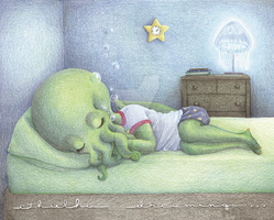 Cthulhu Dreaming by SheilaSunshine