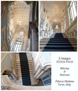 Palazzo Madama Balcony and Staircase Stock Pack by XiuLanStock