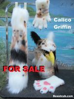 Calico Tabby Griffin SOLD by LilleahWest