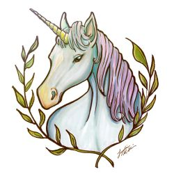 Unicorn (Vinyl Stickers, Time-Lapse, and Giveaway) by Lydia415