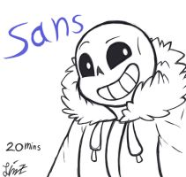 Sans by ArtStormDragon