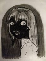 Horror Girl with charcoal by Kill-chan