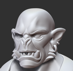 Orc Forgemaster face closeup by ZymTrance