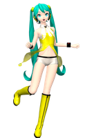 DT 2nd Yellow Miku by Sushi-Kittie