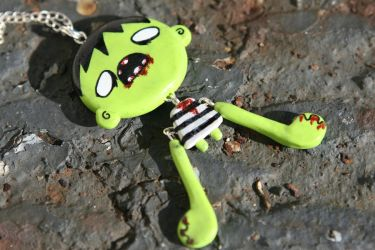 Zombie necklace front by junkyard-king