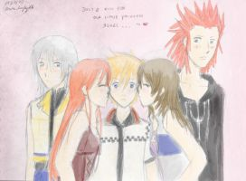 .. two kisses for roxas .. by HeartlessTira