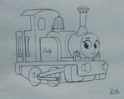 Lady The Magical Engine (sketch) by PilloTheStar