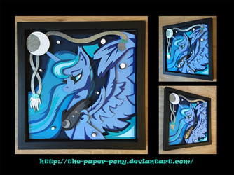 2016 Babscon Exclusive Luna Shadowbox by The-Paper-Pony