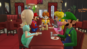 [TS4] Mario Dinner by ZeFrenchM