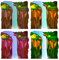 Vector Waterfalls by breeozoa