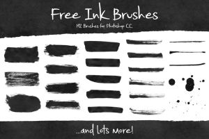 Free-Ink-Brushes-for-Photoshop by BrittneyMurphy